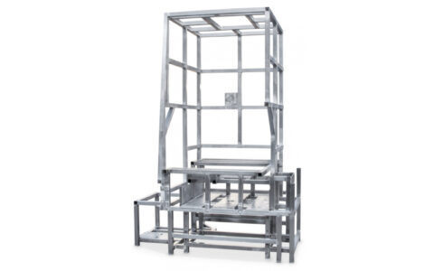 Welded frame for press